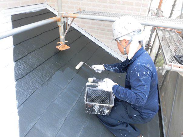 11.屋根下塗り